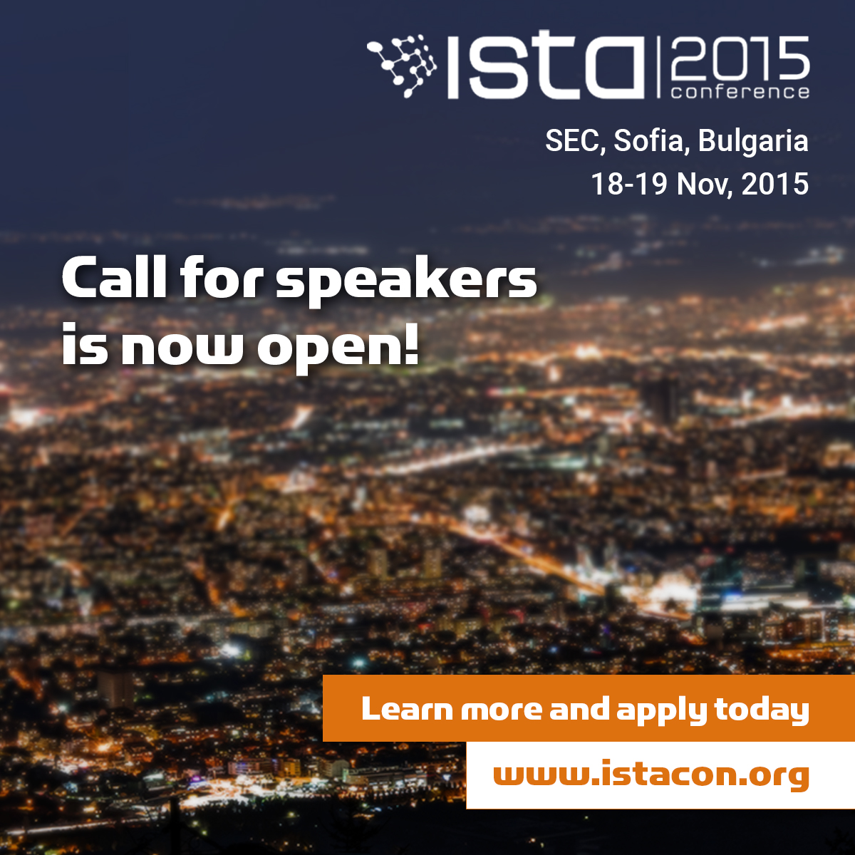 ISTA Con 2015 - Call for speakers is now open!
